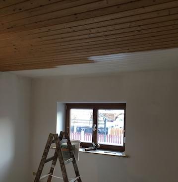 Wohnzimmer Holz-Lack